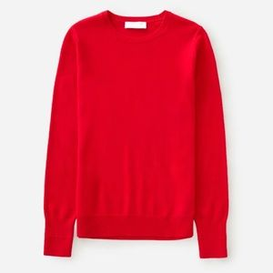 Everlane red cashmere crew neck sweater medium